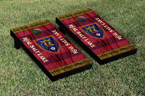 Real Salt Lake MLS Soccer Scarf Version Cornhole Game Set by Victory Tailgate