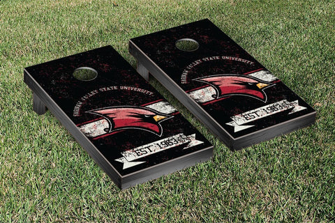 Saginaw Valley State SVSU Cardinals Cornhole Boards and bags, Banner Vintage Version - Victory Tailgate 42353