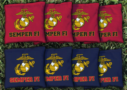 US Marine Corps Replacement Cornhole Bag Set  (corn filled)