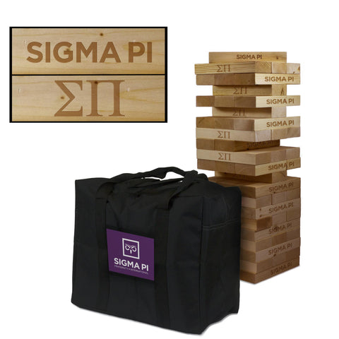 Sigma Pi Giant Jenga Tumble Tower Game