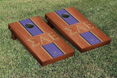 Sigma Alpha Epsilon Rosewood Stained Cornhole Set Victory Tailgate 31561