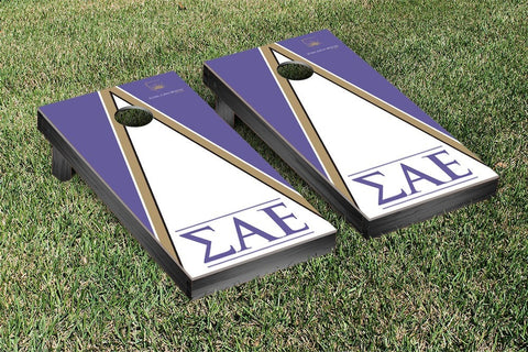 Sigma Alpha Epsilon Triangle Cornhole Game Set - Victory Tailgate 31560