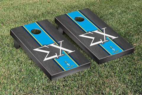 Sigma Chi Onyx Stained Cornhole Set Victory Tailgate 31589