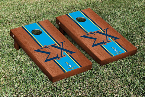 Sigma Chi Rosewood Stained Cornhole Set Victory Tailgate 31592