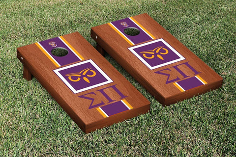 Sigma Pi Rosewood Stained Cornhole Set Victory Tailgate 31635