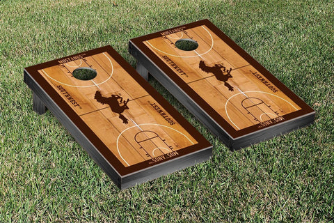 Southwest Minnesota SMSU Mustangs Cornhole Game Set Basketball Court Version - Victory Tailgate 31988