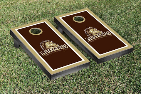 Southwest Minnesota SMSU Mustangs Cornhole Game Set Border Version - Victory Tailgate 31991