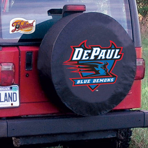 DePaul Blue Demons Tire Cover by Holland Covers