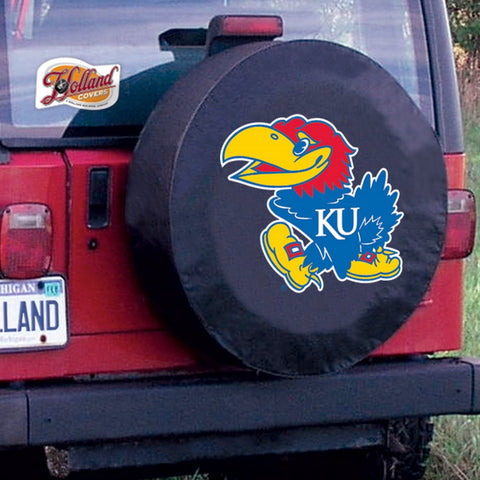 Kansas Jayhawks Tire Cover by Holland Covers
