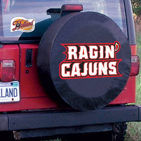 Louisiana at Lafayette Ragun Cajuns Tire Cover by Holland Covers
