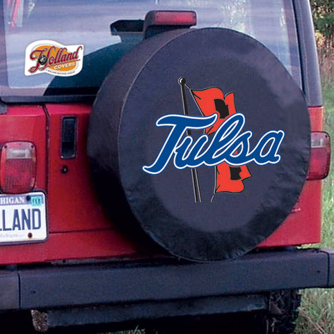 Tulsa Golden Hurricane Tire Cover by Holland Covers