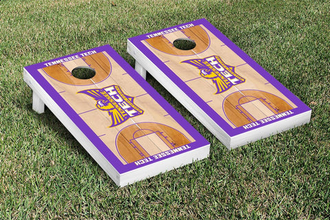 Tennessee Tech TTU Golden Eagles Cornhole Game Set Basketball Wooden - Victory Tailgate 23180