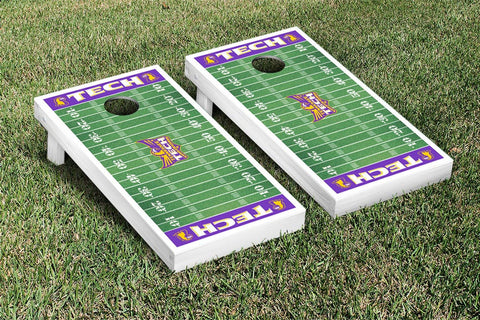 Tennessee Tech TTU Golden Eagles  Cornhole Game Set Football Field Version - Victory Tailgate 25051