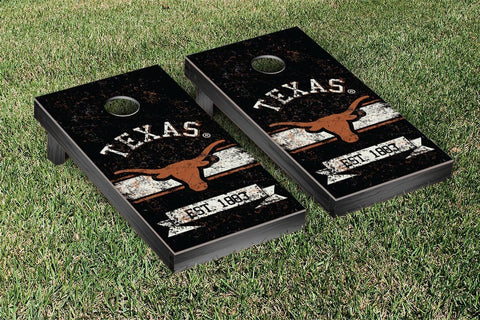 University of Texas Longhorns Cornhole Boards and bags, Banner Vintage Version - Victory Tailgate 32674