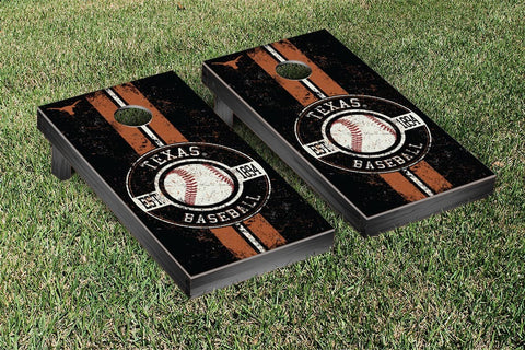 University of Texas Longhorns Cornhole Game Set Baseball Vintage Version - Victory Tailgate 32675