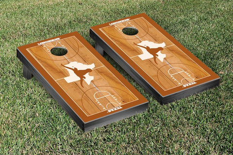 University of Texas Longhorns Cornhole Game Set Basketball Court Version - Victory Tailgate 32676