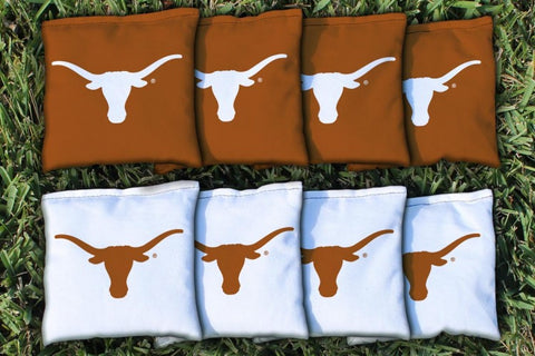 University of Texas Longhorns Corn Hole Bag Logo Set - corn filled