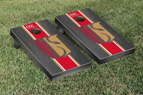 Theta Chi  Onyx Stained Cornhole Set Victory Tailgate