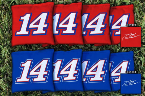 NASCAR #14 Tony Stewart Mobil Version Corn Hole Bags - All Weather