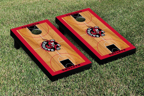 Toronto Raptors Cornhole Game Set Basketball Court Version - Victory Tailgate 28939