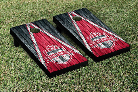 Toronto FC Weathered Triangle Version Cornhole Game Set by Victory Tailgate