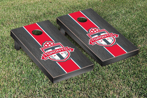 Toronto FC Onyx Stained Stripe Version Cornhole Game Set by Victory Tailgate