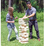 Giant Jenga Tumble Tower Set up and ready to fall