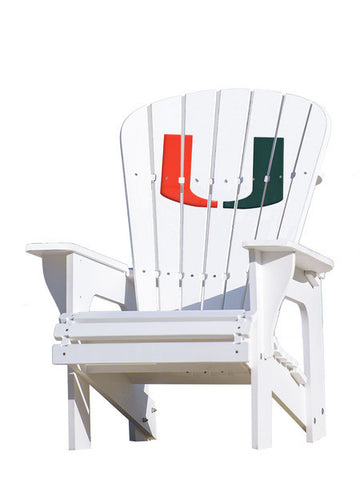 The Miami Hurricanes Adirondack Chairs by Key Largo