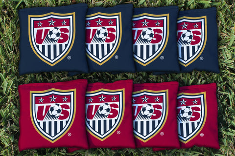 US Soccer USSF Corn Hole Bag Logo Set - corn filled