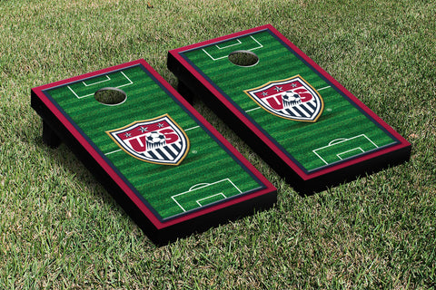 US Soccer USSF Cornhole Game Set Soccer Field Version 2 - Victory Tailgate 26015