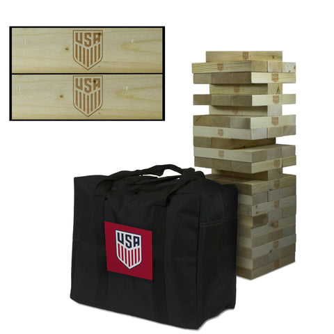 US Soccer Giant Jenga Tumble Tower Game