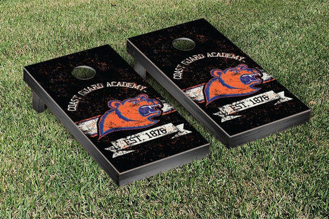 US Coast Guard Academy USCGA Bears Cornhole Boards and bags, Banner Vintage Version - Victory Tailgate 42928