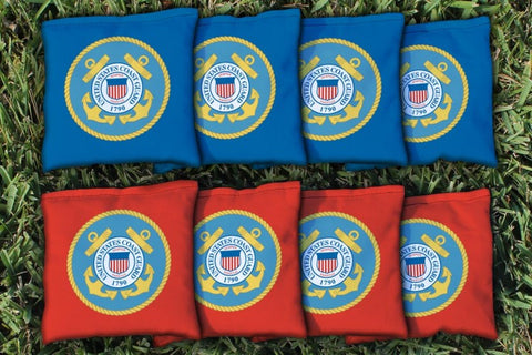 US Coast Guard Replacement Cornhole Bag Set  (corn filled)
