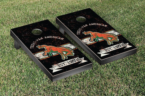 University of Texas Pan American UTPA Broncs Cornhole Boards and bags, Banner Vintage Version - Victory Tailgate 36775