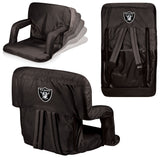 The Oakland Raiders Ventura Seat for tailgating, stadiums and bleachers by Picnic Time