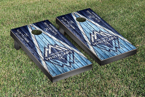 Vancouver Whitecaps Weathered Triangle Version Cornhole Game Set by Victory Tailgate