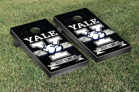 Yale Bulldogs Cornhole Boards and bags, Banner Vintage Version - Victory Tailgate 54642