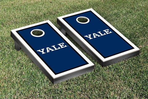 Yale Bulldogs Cornhole Game Set Border Version 1 - Victory Tailgate 54623