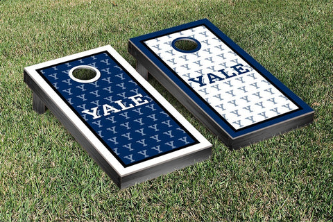 Yale Bulldogs Cornhole Game Set Border Version 2 - Victory Tailgate 54647