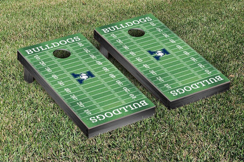 Yale Bulldogs Cornhole Game Set Football Field Version - Victory Tailgate 54644