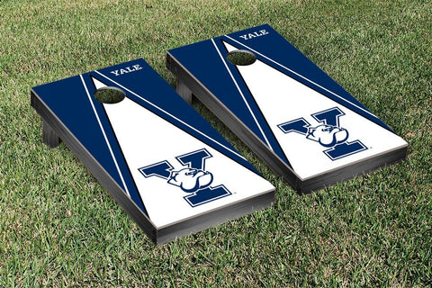 Yale Bulldogs Cornhole Game Set Triangle Version - Victory Tailgate 54648
