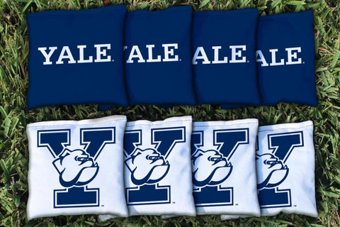 Yale Bulldogs Corn Hole Bag Logo Set - corn filled