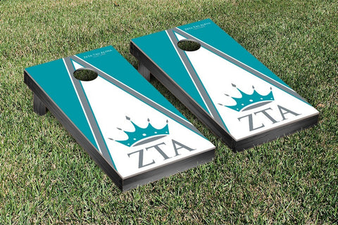 Zeta Tau Alpha Cornhole Game Set Triangle Version - Victory Tailgate 32169