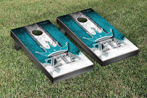 Zeta Tau Alpha Cornhole Game Set Vintage Version - Victory Tailgate 32170