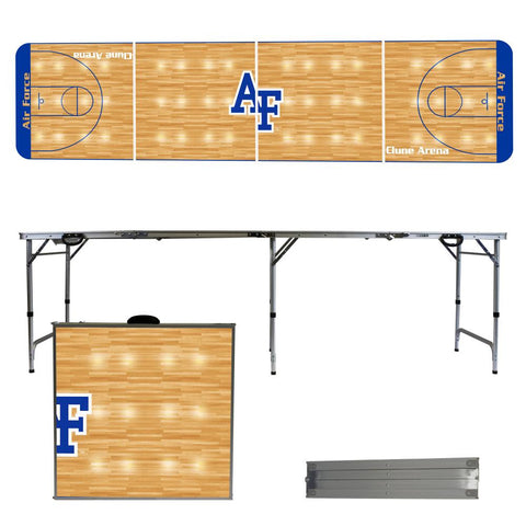 The USAF Falcons Basketball Court Version Portable Tailgating and Cup Game Table