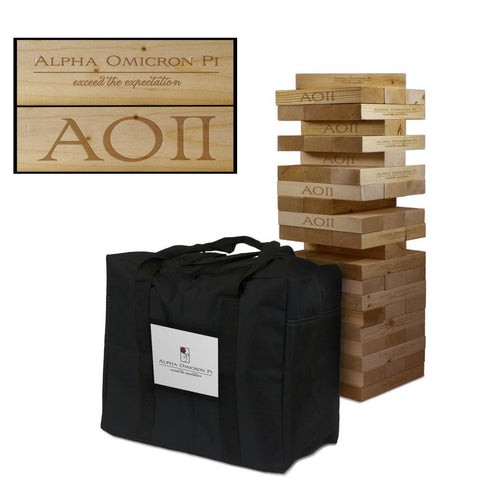 Alpha Omicron Pi Giant Jenga Tumble Tower Game