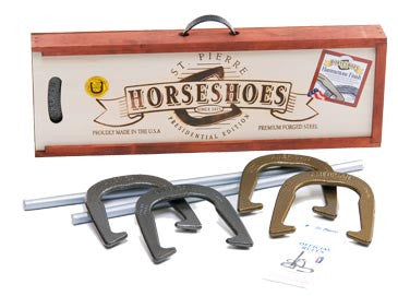 Horseshoes is Americas classic backyard family fun game