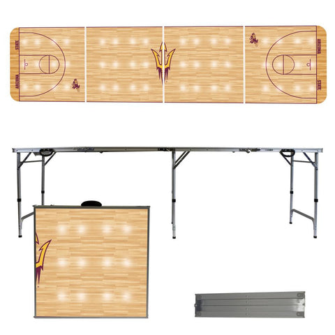 The ASU Sun Devils Basketball Court Version Portable Tailgating and Cup Game Table