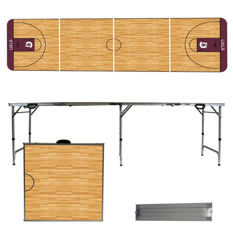 The UALR Trojans Basketball Court Version Portable Tailgating and Cup Game Table