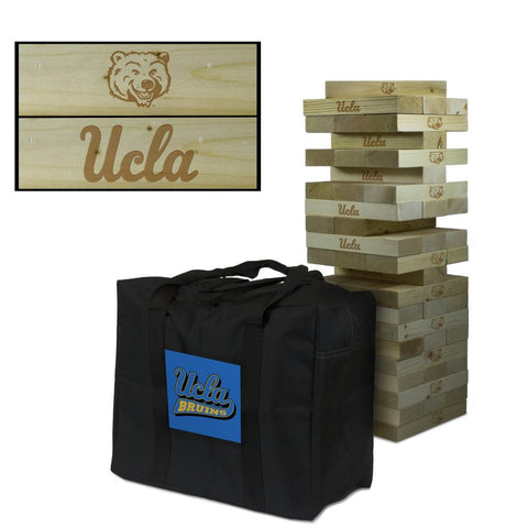 UCLA Giant Wooden Tumble Tower with Bruins Carry Case